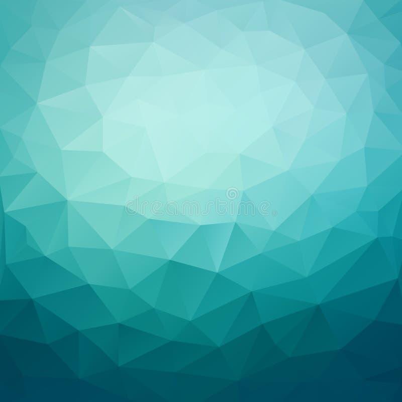 Polygonale abstrakte geometrische dunkelblaue dreieckige niedrige Polyart lizenzfreie abbildung