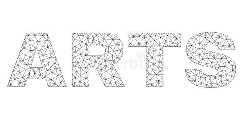 Polygonale 2D K?NSTE simsen Titel lizenzfreie abbildung