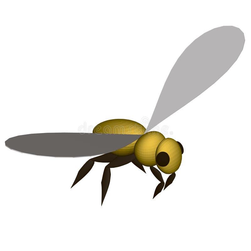 Polygonale gelbe Biene isoliert auf weißem Grund isometrisch 3D Vector-Illustration lizenzfreie abbildung