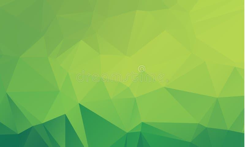 Polygonale Illustration des hellgrünen Vektors, die aus Dreiecken bestehen vektor abbildung