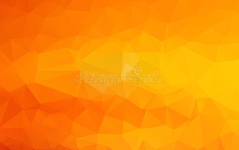 Polygonale Illustration des hellorangeen Vektors, die aus Tri bestehen vektor abbildung