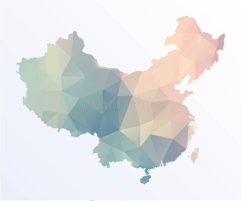 Polygonale Karte von China vektor abbildung