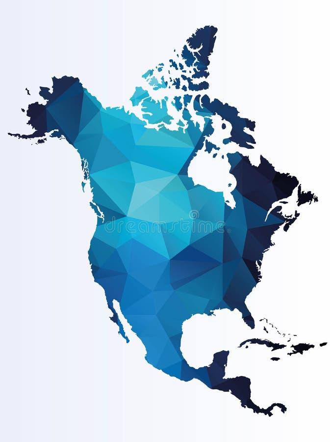 Polygonale Karte von Nordamerika vektor abbildung