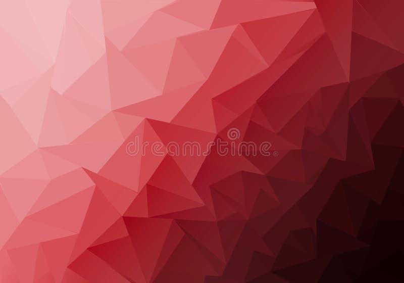 Polygonale Mehrfarbenillustration, die aus Dreiecken bestehen Geometrischer Hintergrund in der Origamiart mit Steigung lizenzfreie abbildung