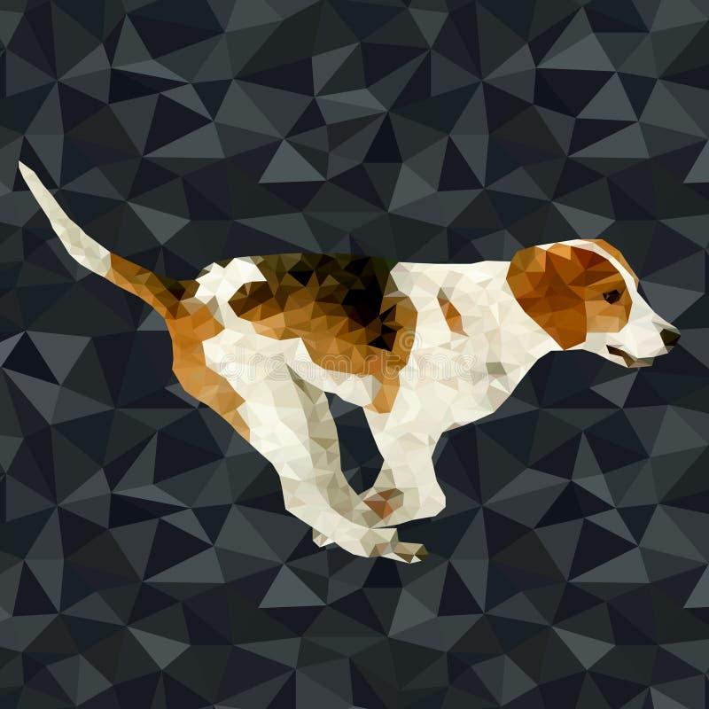 Polygonale Schattenbilder des Vektors Hunde vektor abbildung