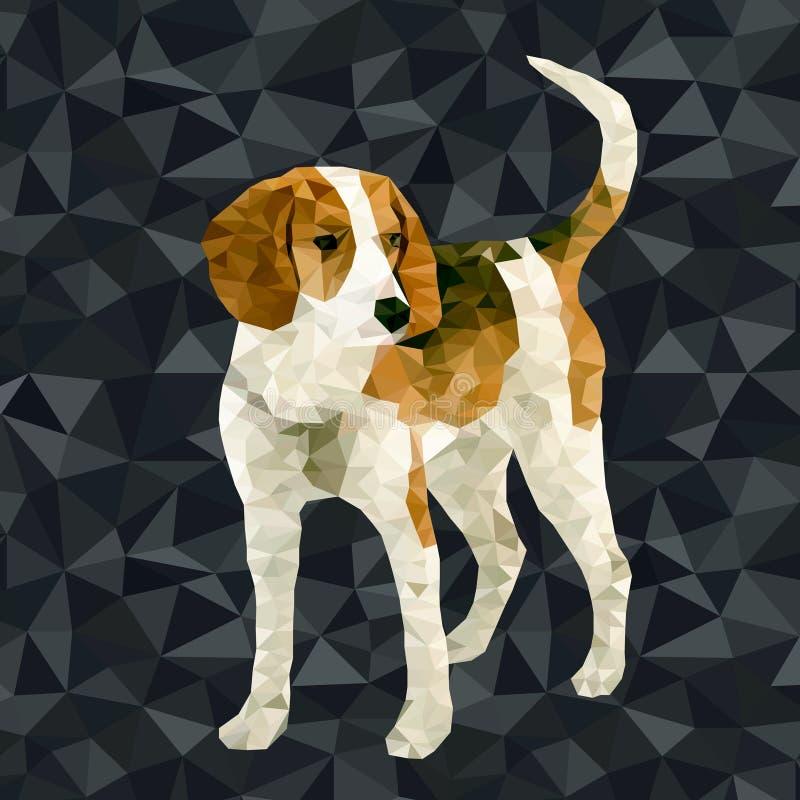 Polygonale Schattenbilder des Vektors Hunde stock abbildung