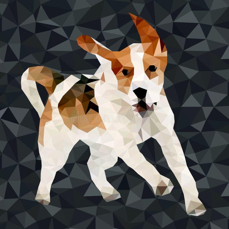 Polygonale Schattenbilder des Vektors Hunde lizenzfreie abbildung