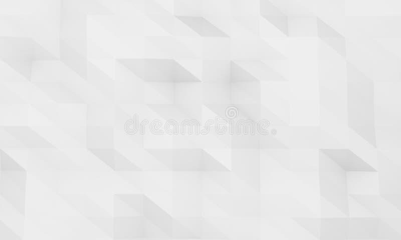 Polygonaler abstrakter geometrischer reiner einfacher Hintergrund des grauen Weiß stock abbildung