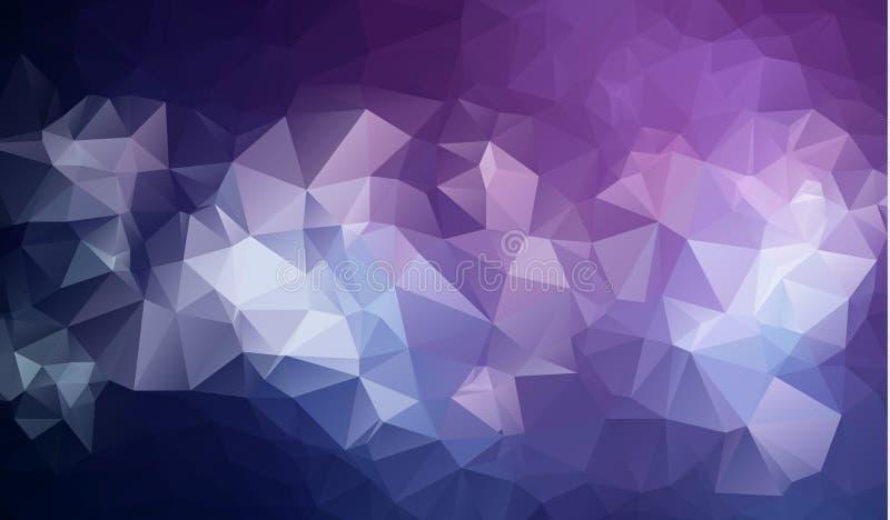 Polygonaler abstrakter Hintergrund des Dreieckmosaiks niedrig Auch im corel abgehobenen Betrag lizenzfreie abbildung