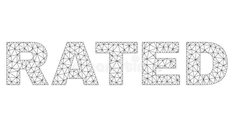 Polygonaler 2D BEWERTETER Text-Umbau vektor abbildung