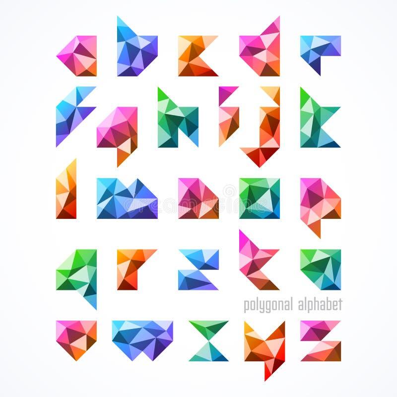 Polygonaler Guss, Alphabet stock abbildung