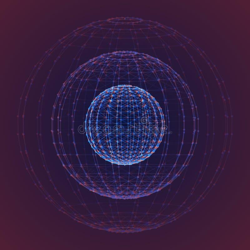 Polygonaler Hintergrund des interstellaren Raumes des Vektors Kosmische Galaxieillustration Hintergrund mit Nebelfleck, stardust  stock abbildung