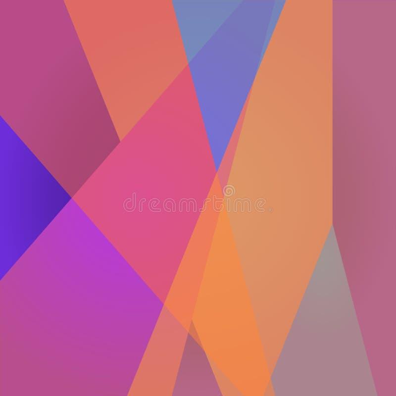 Polygonaler Hintergrund des Mosaiks im Vektor Moderne abstrakte Auslegung stock abbildung