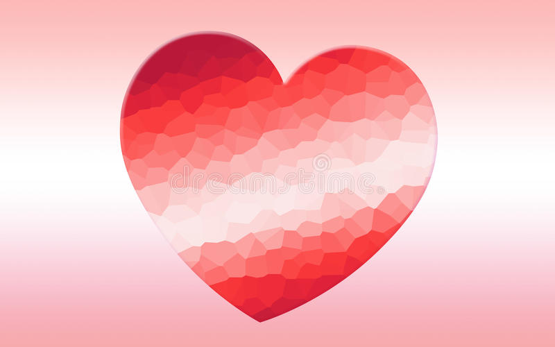 Polygonaler Mosaikhintergrund des Herzens stockbilder