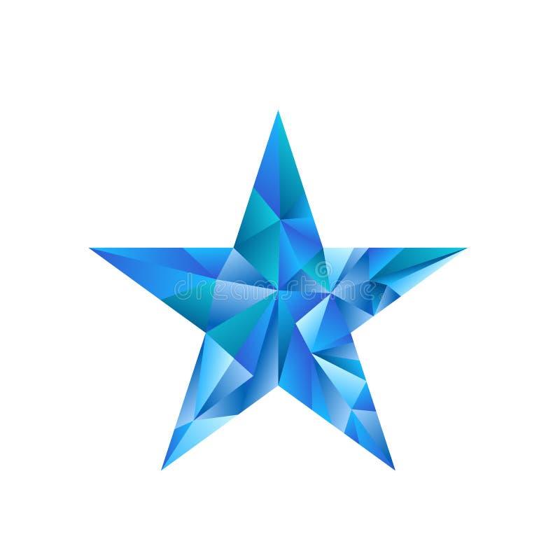 Polygonaler Sternvektorhintergrund lizenzfreie abbildung