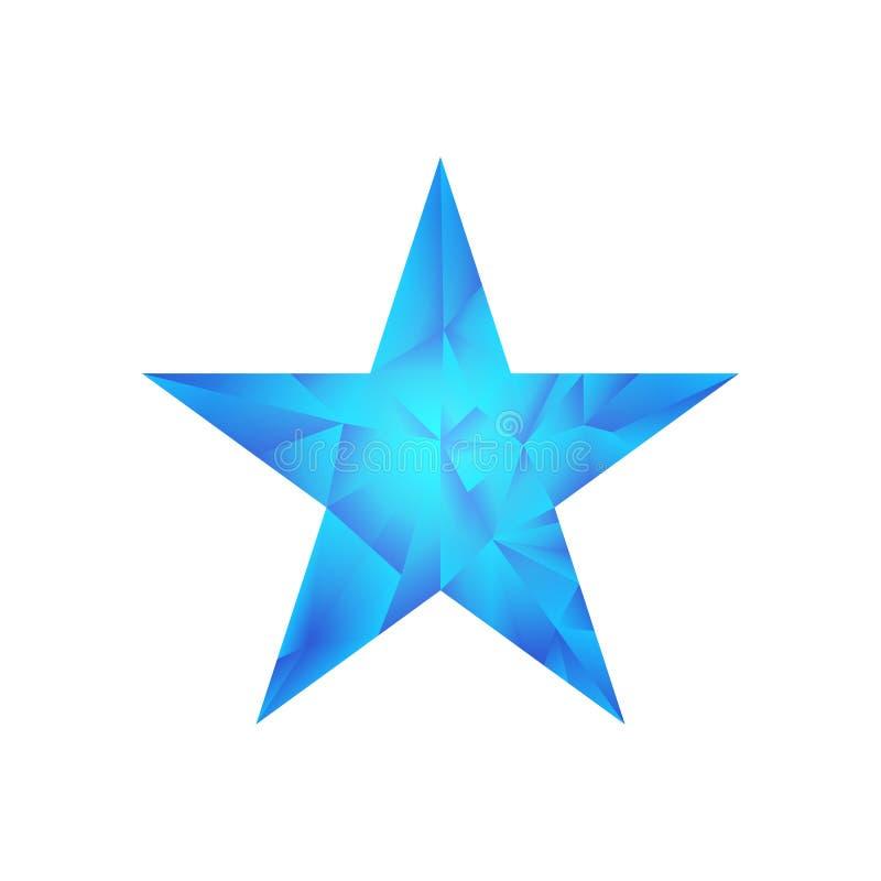 Polygonaler Sternvektorhintergrund vektor abbildung