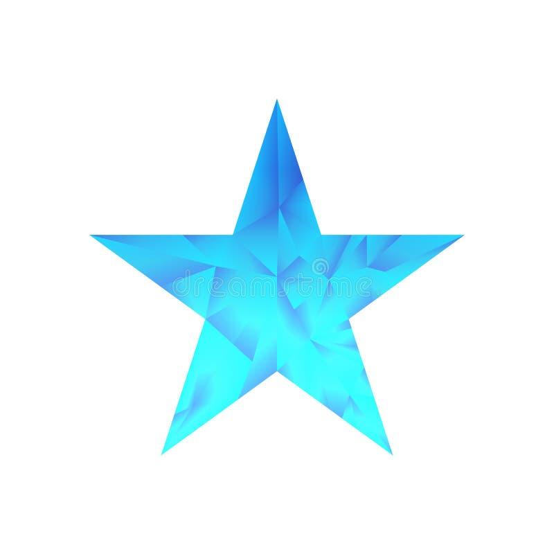 Polygonaler Sternvektorhintergrund stock abbildung