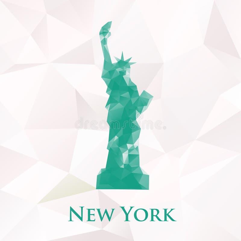 Polygonales Freiheitsstatue des Vektors New- Yorksymbol vektor abbildung