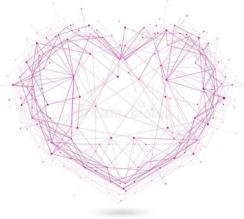 Polygonales Herz lizenzfreie abbildung