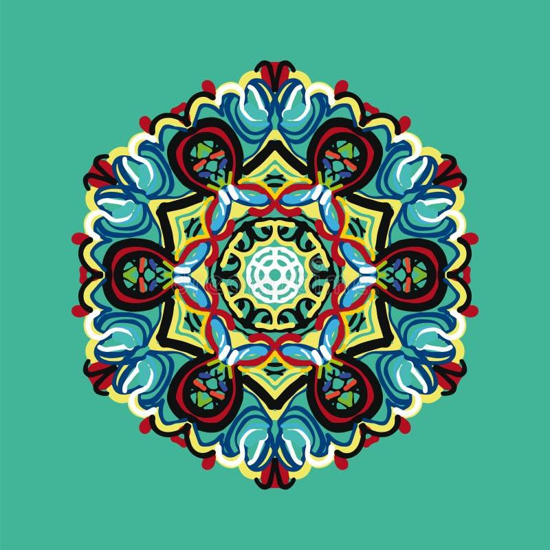 Polygonales Muster in der orientalischen Art mit vielen farbigen Elements stockfoto