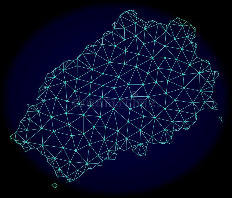 Polygonales Netz Mesh Vector Abstract Map des Heiligen Helena Island vektor abbildung