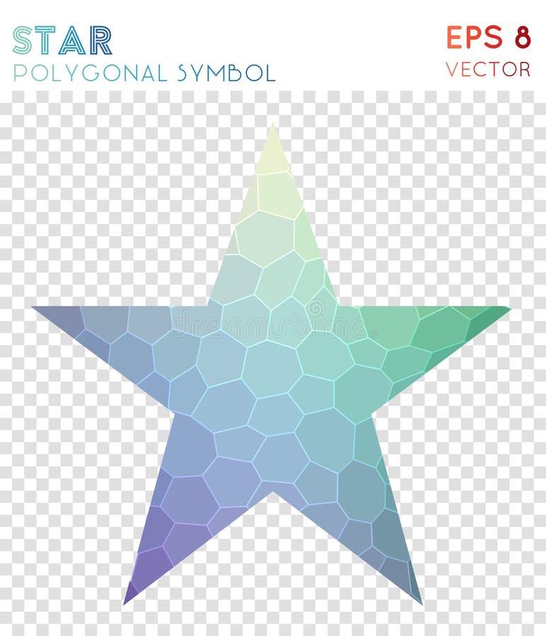 Polygonales Symbol des Sternes lizenzfreie abbildung