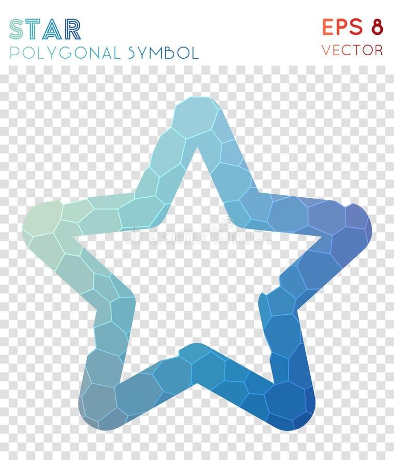 Polygonales Symbol des Sternes vektor abbildung