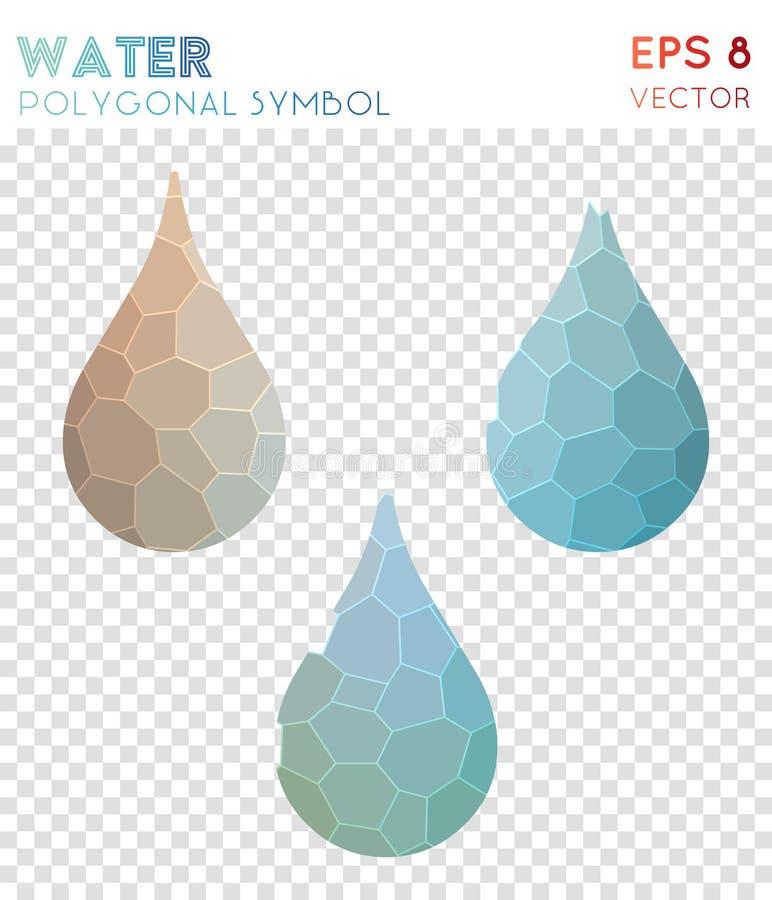 Polygonales Symbol des Wassers vektor abbildung