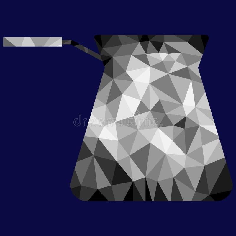 PolygonCezve bild royaltyfria foton