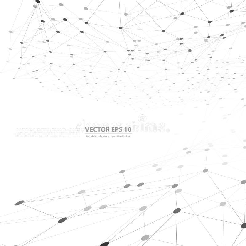 Polygone d'abrégé sur fond de réseau de vecteur illustration stock