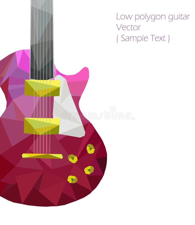 Polygone de guitare de vecteur bas illustration de vecteur