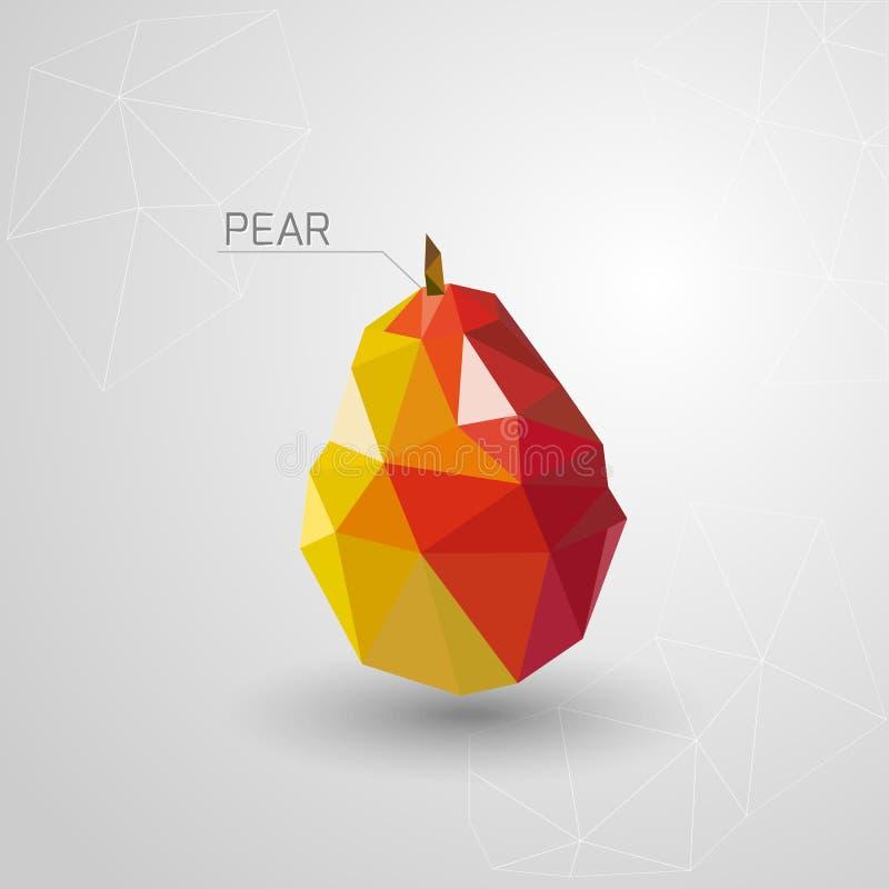 Polygone juteux de poire Vecteur illustration libre de droits