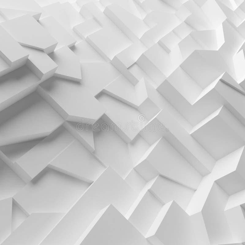 Polygones géométriques d'abrégé sur couleur, comme mur de fente photographie stock libre de droits