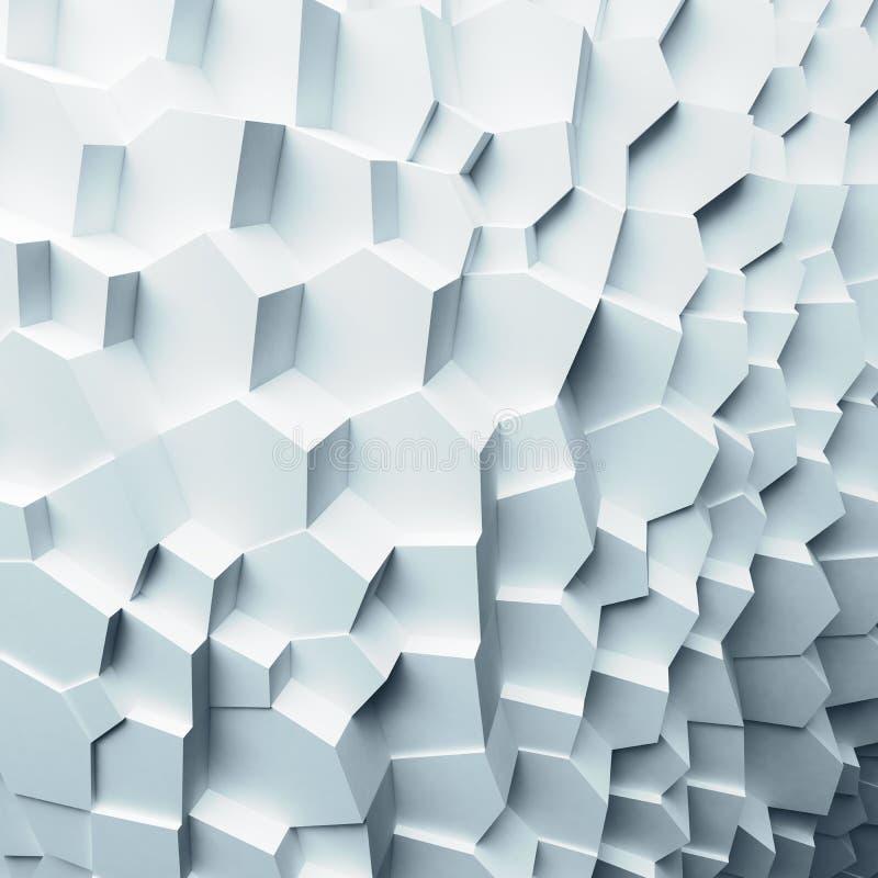 Polygones géométriques d'abrégé sur couleur, comme mur de fente Intérieur 12 photos libres de droits