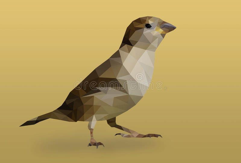 Polygonfågel royaltyfri bild