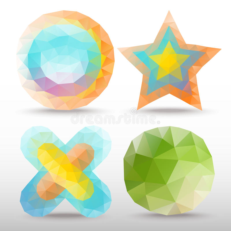 Polygonidé stock illustrationer