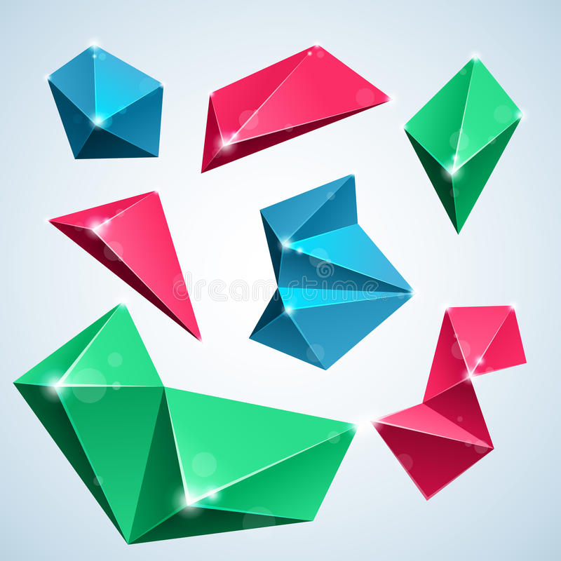 Polygonluftblasen stock abbildung