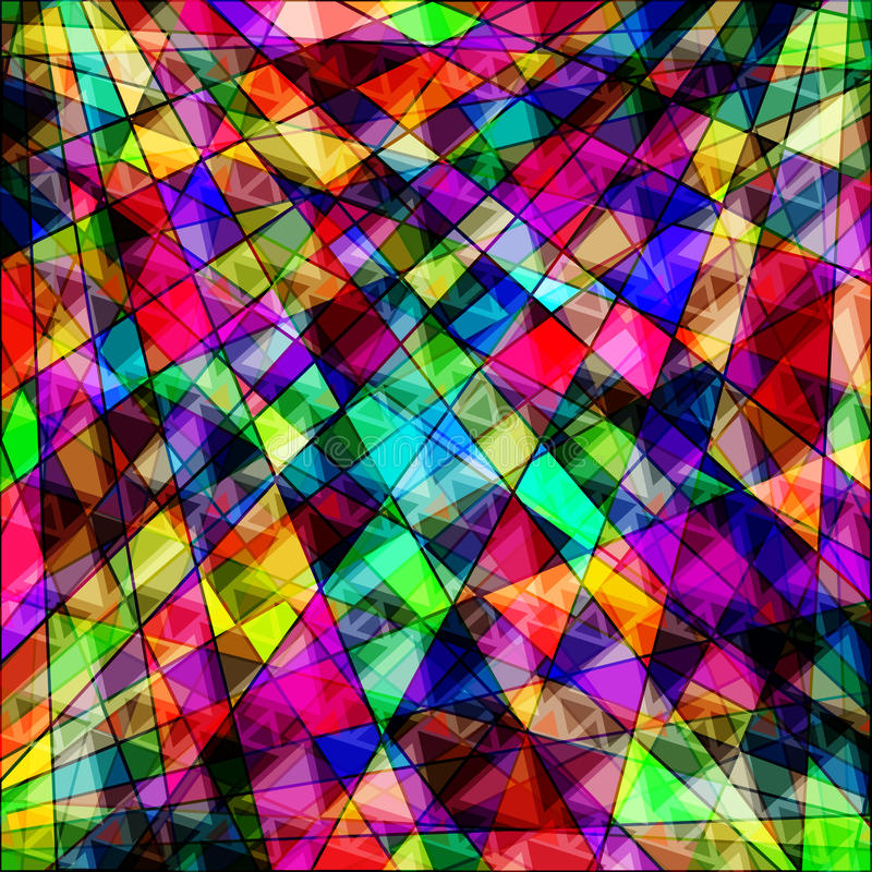 Polygons psychedelic bright abstract geometric stock illustration