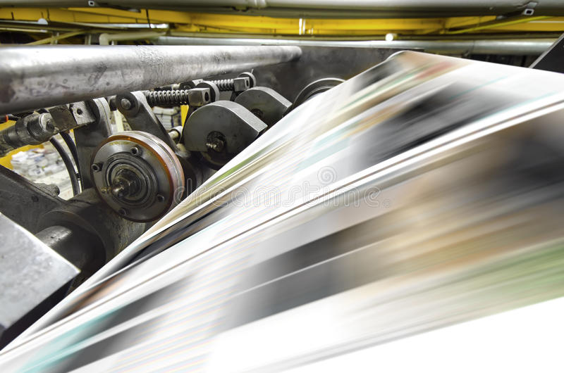 Polygraphic process in a modern printing stock image
