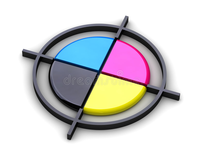 Polygraphisches Kreuz stock abbildung