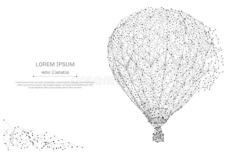 Polygrau des Luftballons niedrig vektor abbildung