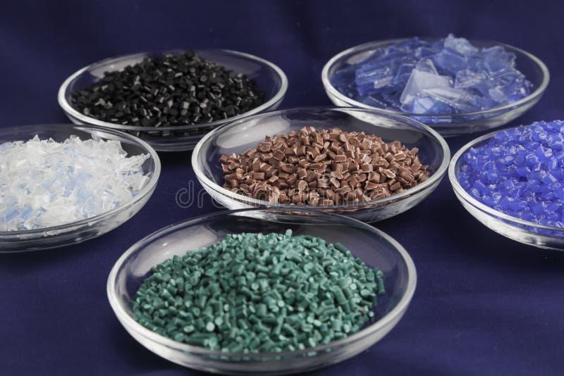 Polymères en plastique réutilisés image libre de droits
