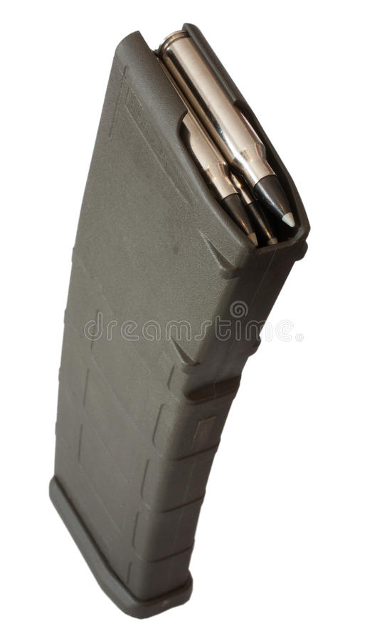 Polymer assault magazine royalty free stock image