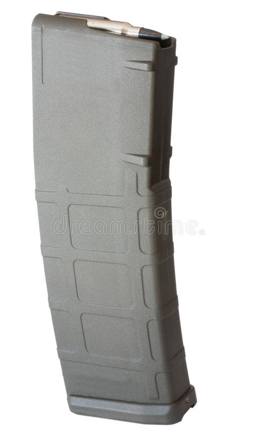High Capacity Rifle Magazine Royalty Free Stock Photography