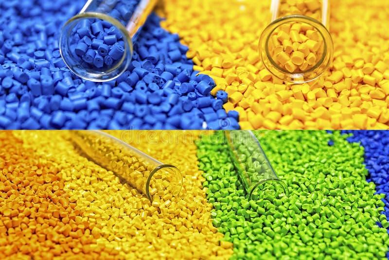 Polymere kleurstof plastic korrels Kleurstof voor plastieken Pigment i royalty-vrije stock foto's
