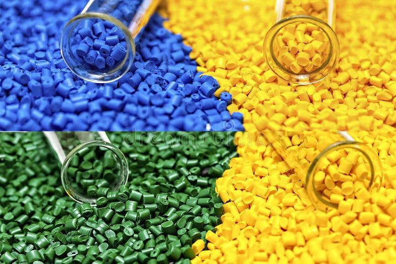 Polymere kleurstof plastic korrels Kleurstof voor plastieken Pigment i royalty-vrije stock afbeeldingen
