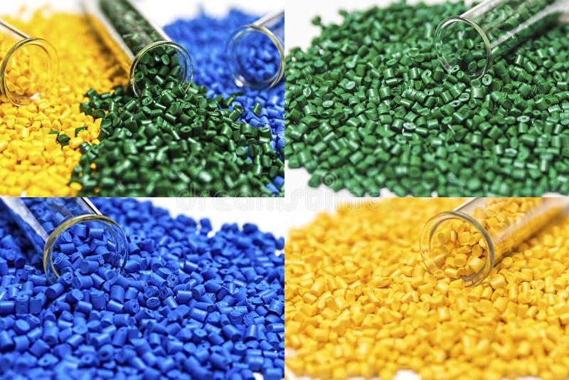 Polymere kleurstof plastic korrels Kleurstof voor plastieken Pigment i stock afbeelding