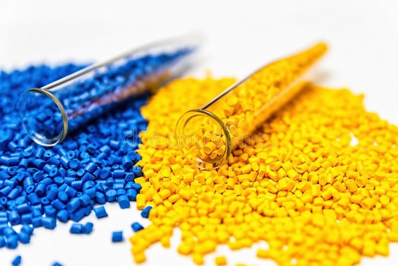 Polymeric dye. Colorant for plastics. Pigment in the granules. Polymeric dye. Plastic pellets. Colorant for plastics. Pigment in the granules stock photos