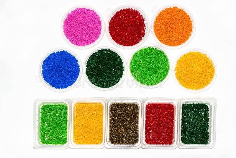 Polymerische Färbung Farbstoff für Plastik Pigment in den Körnchen lizenzfreie stockbilder