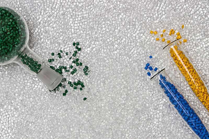 Polymerische Färbung Farbstoff für Plastik Pigment in den Körnchen lizenzfreie stockfotos
